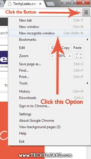 Invisible Hidden Browsing using Google Chrome