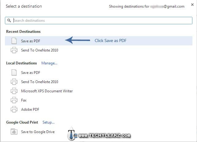 Save or Download webpage as PDF file using Google Chrome