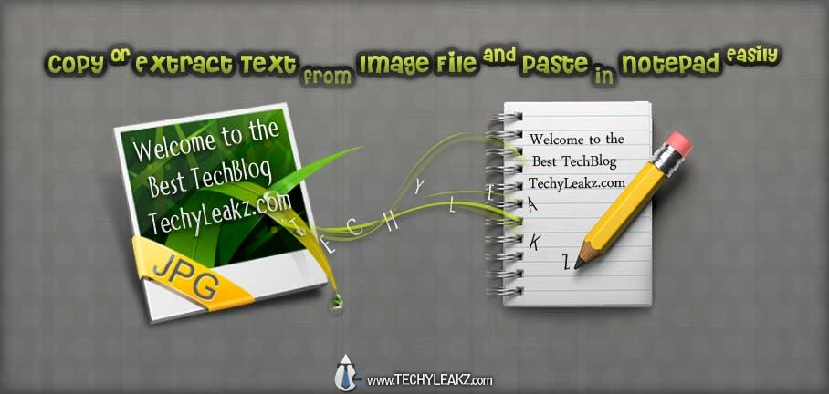 Copy Extract Text from Image File and Paste in Notepad