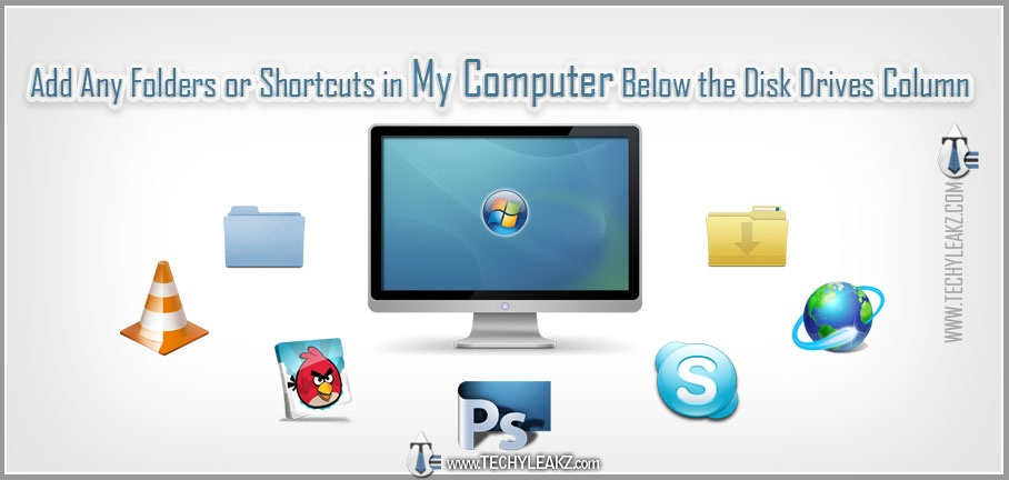 Add Any Folders or Shortcuts in Windows My Computer Below the Drives Column