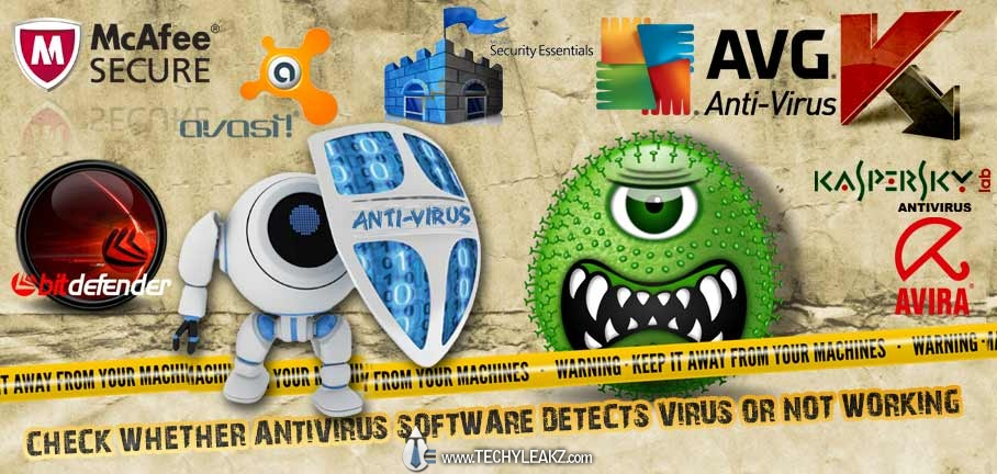 Check AntiVirus Software Detects Virus Correctly or Not Working