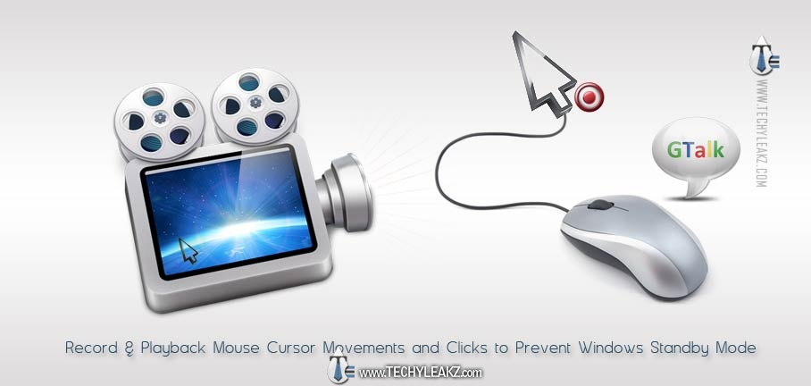 Record & Play Mouse Cursor Movements and Clicks to Prevent Gtalk Going Idle